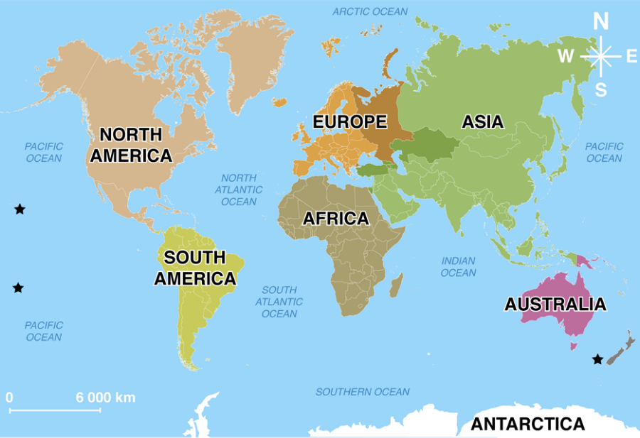 world map with all continents, world map unlabeled, earth divided into continents, atlas divided into continents, world map of continents identified, names of continents, world map outline continents, simple map of continents, on world map divided into continents